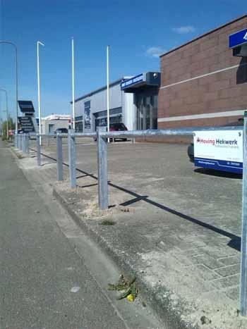 Doorrijbeveiliging voor autobedrijven Hoving Hekwerk B.V. Stadskanaal